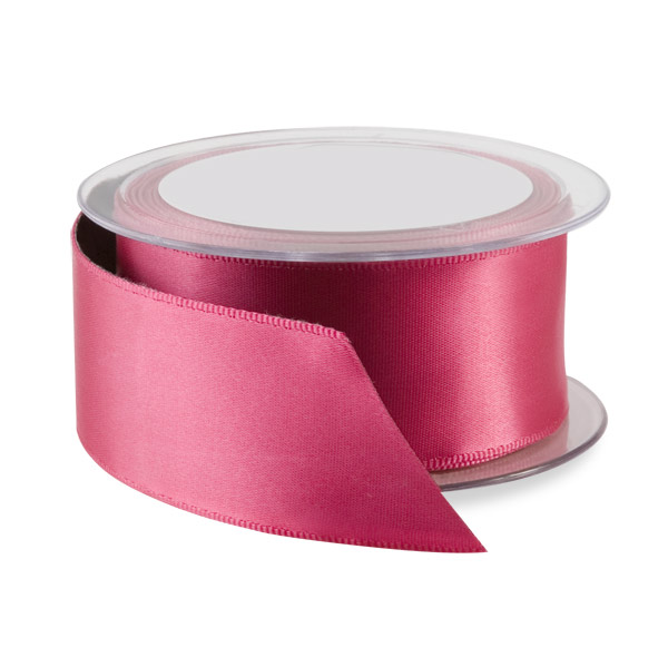 Double Face Satin Wired Ribbon Fuchsia