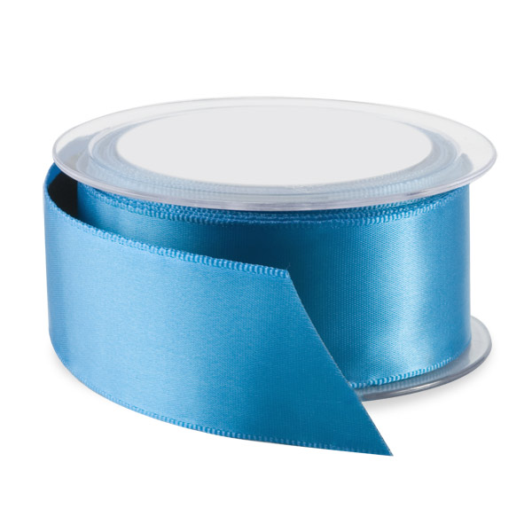 Double Face Satin Wired Ribbon Kingfisher Blue