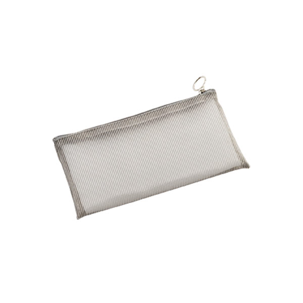 Small Micro Mesh Pouch Light Grey