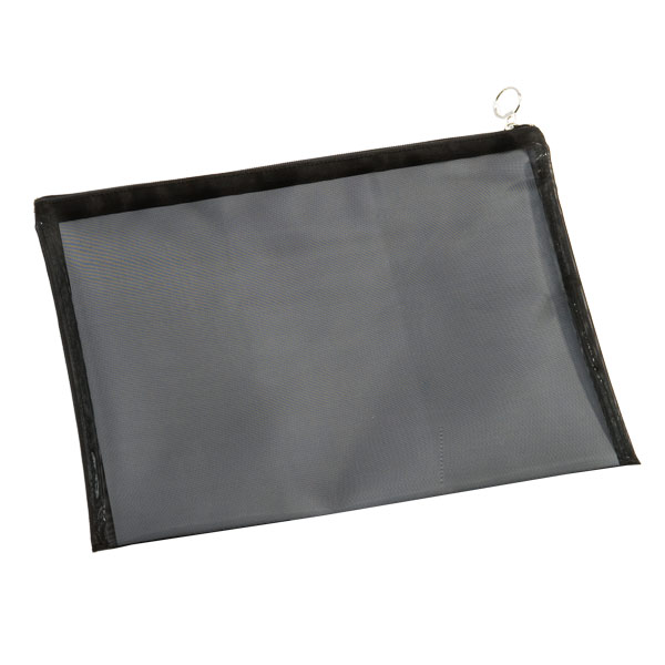 Large Micro Mesh Pouch Black