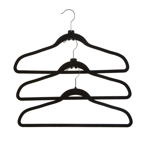 Huggable Cascading Mini Hooks Black Pkg 10