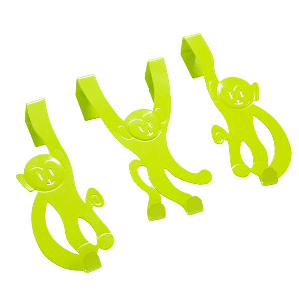 Monkey Doorhangers Green Pkg/3
