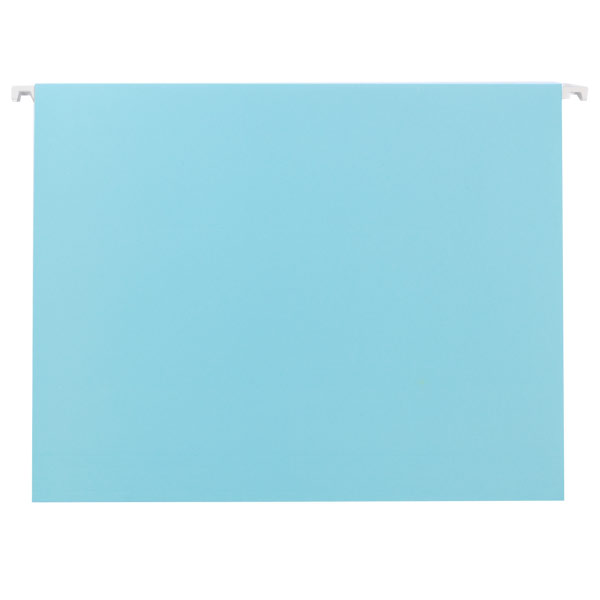 Letter-Size Hanging File Folders Sky Blue Pkg/6