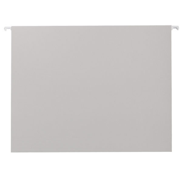 Letter-Size Hanging File Folders Grey Pkg/6