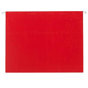 Letter-Size Hanging File Folders Red Pkg/6