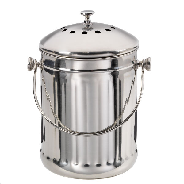 stainless steel compost pail the container store