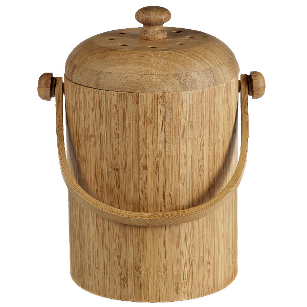 bamboo compost pail the container store