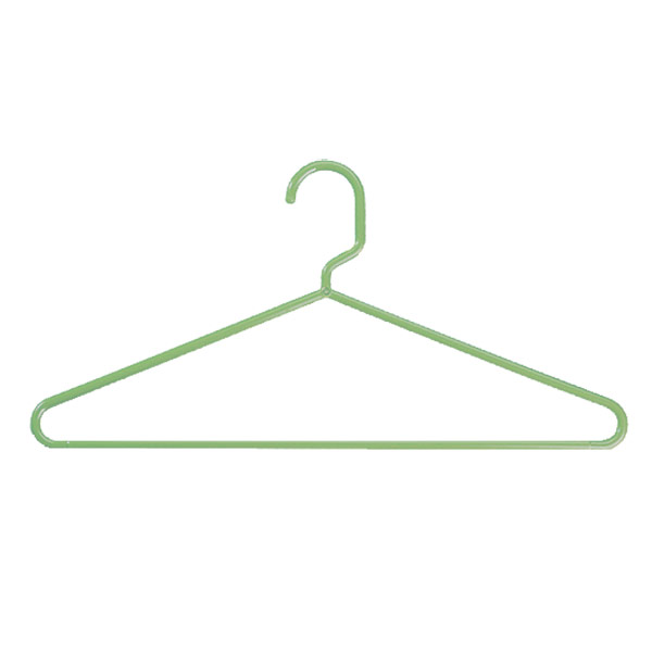 Case of 72 Tubular Hangers Sage Green