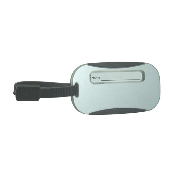 Sliding Luggage Tag Silver