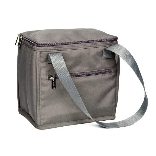 9-Can Nylon Soft Cooler Bag Grey