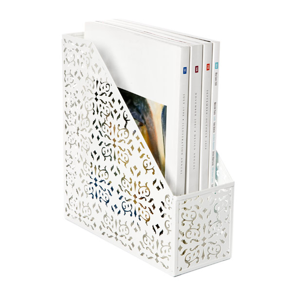 Brocade Magazine File White