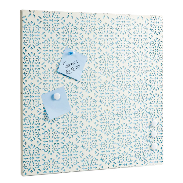 Brocade Magnet Board White