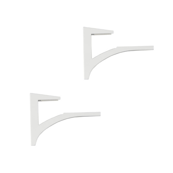 "5/8""-3/4"" Shelf Clip Brackets White Set of 2"