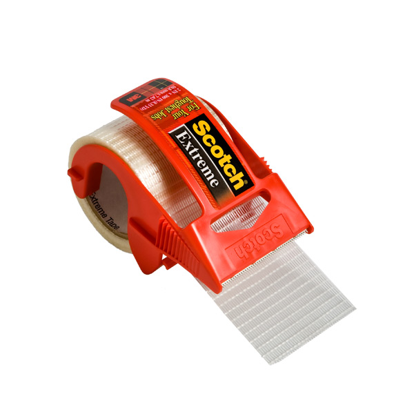 Scotch® Extreme Strapping Tape w/Dispenser Transparent