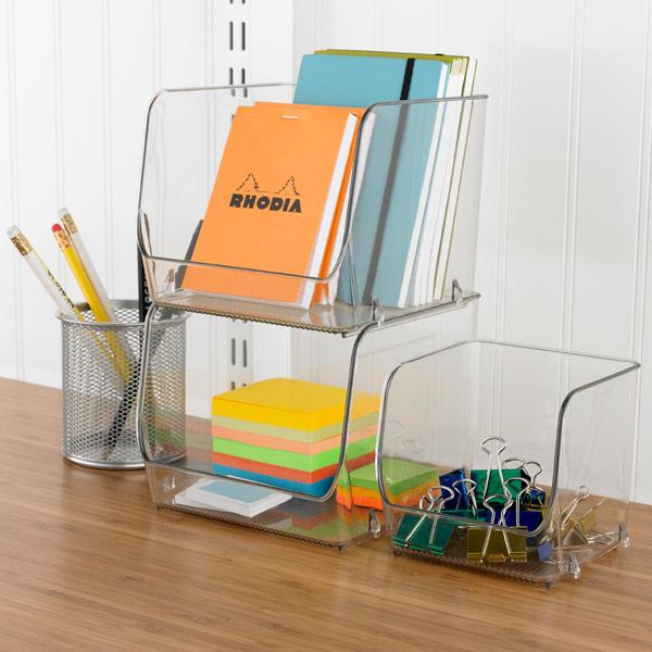 linus open stackable bins