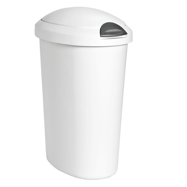 5 gal. Oval Touch-Top Wastebasket