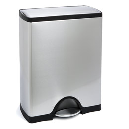 13 gallon simplehuman stainless steel rectangular step trash can the container store
