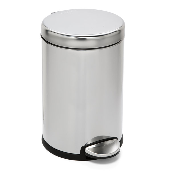 1.2 gal. Round Step Can Stainless