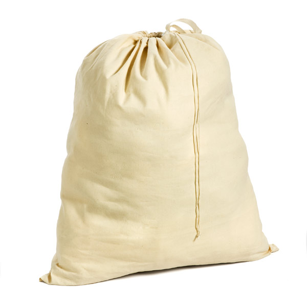 Unbleached Cotton Laundry Bag Natural