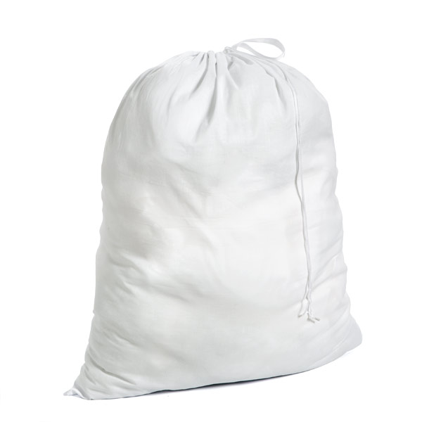 Poly-Cotton Laundry Bag White
