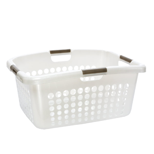 Comfort Grip Laundry Basket Pearl