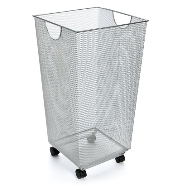 Well known Silver Mesh Handy Bin with Wheels | The Container Store KE12
