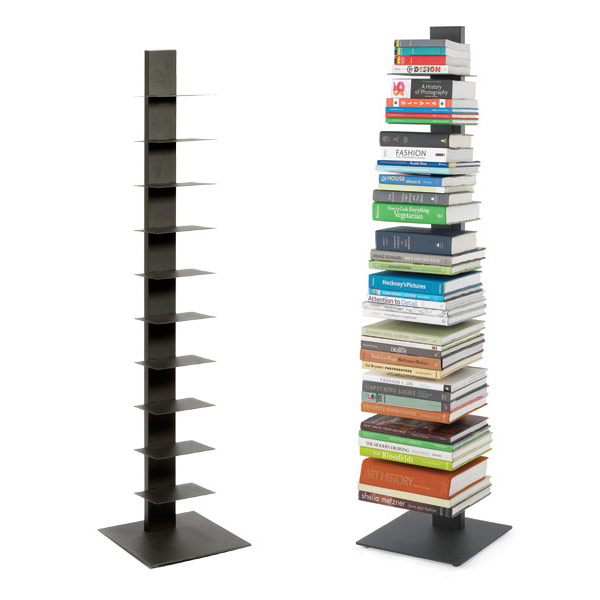 book shelf anthracite sapien bookshelf the container store. Black Bedroom Furniture Sets. Home Design Ideas