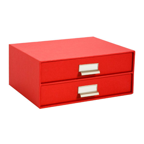 Bigso™ Stockholm Paper Drawers Red