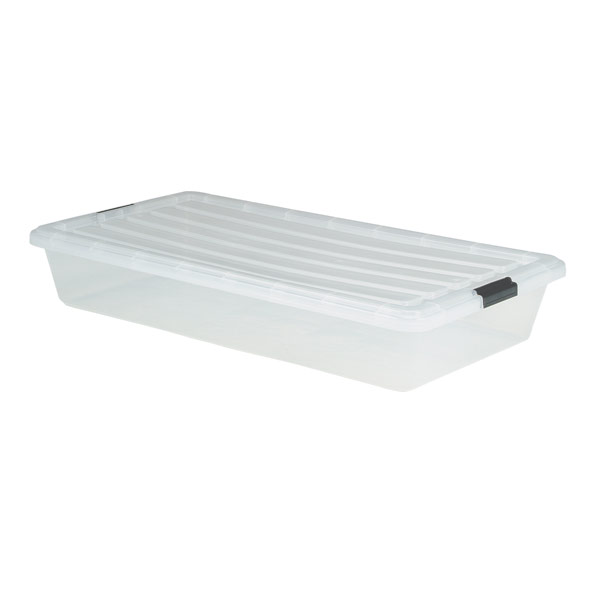 Underbed Box w/Locking Lid Clear