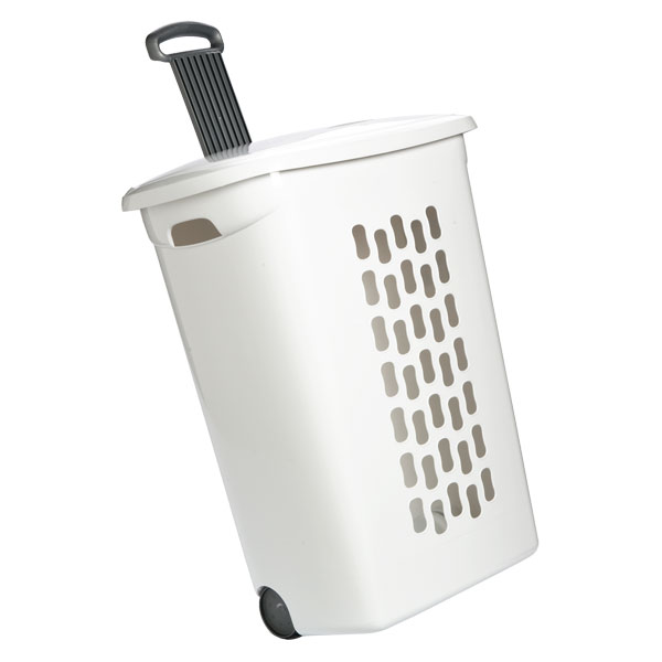 linen bin hamper with wheels the container store