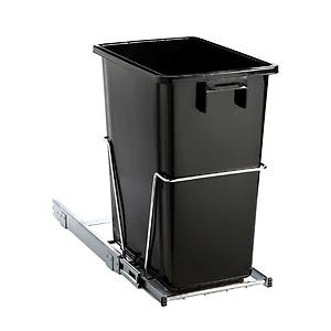 8 gal. Pull-Out Trash Can Black
