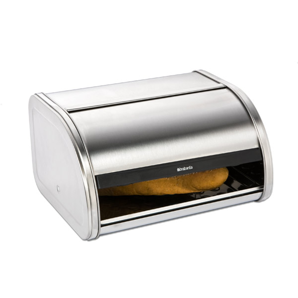 Roll-Top Bread Bin Stainless