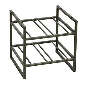 4-Bottle Iron Stacking Wine Rack Pewter