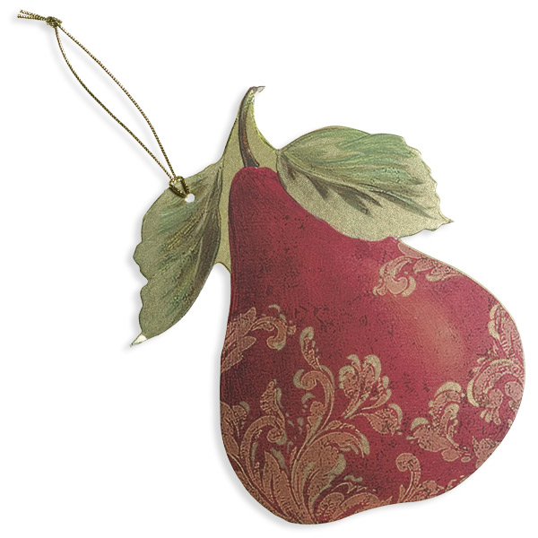 Gift Tags Gilded Pears Pkg/4
