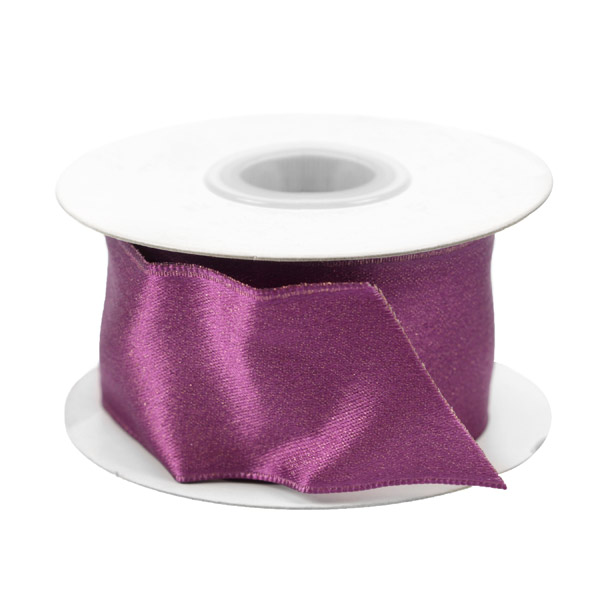 Gold Fleck Wired Ribbon Purple