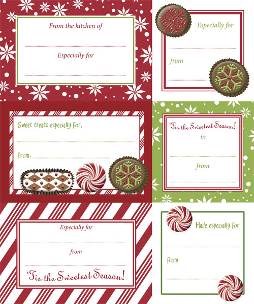 Adhesive To & From Labels Holiday Chocolates Pkg/24
