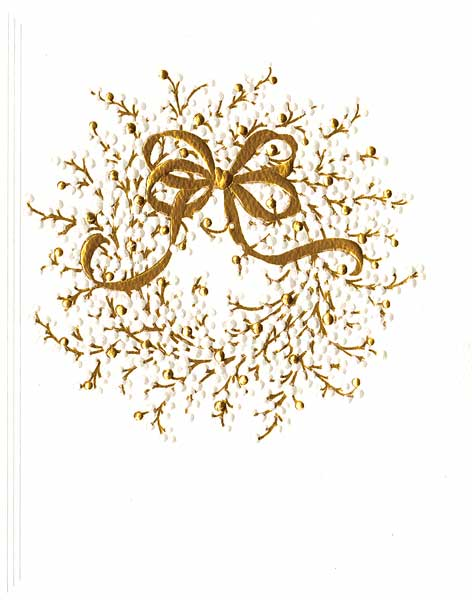 Embossed Enclosures Golden Wreath Pkg/4