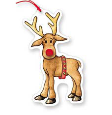 Gift Tag Rudolph Pkg/8