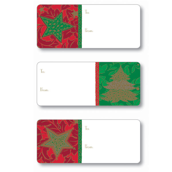 Adhesive To & From Labels Deck the Halls Pkg/36