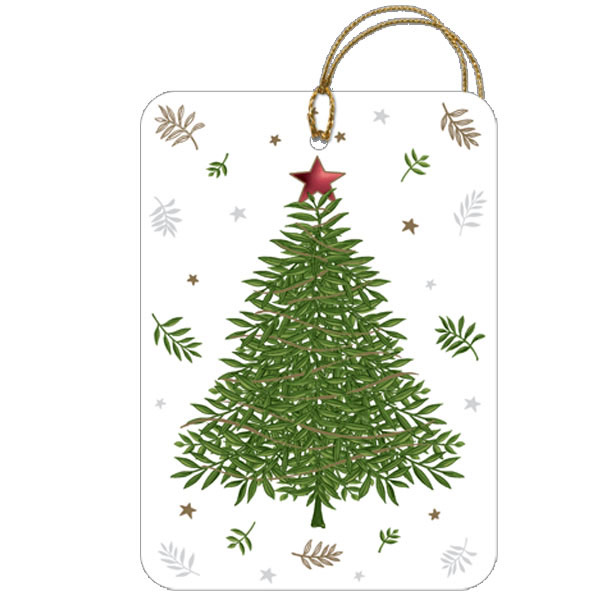 Gift Tags Classic Tree Pkg/5
