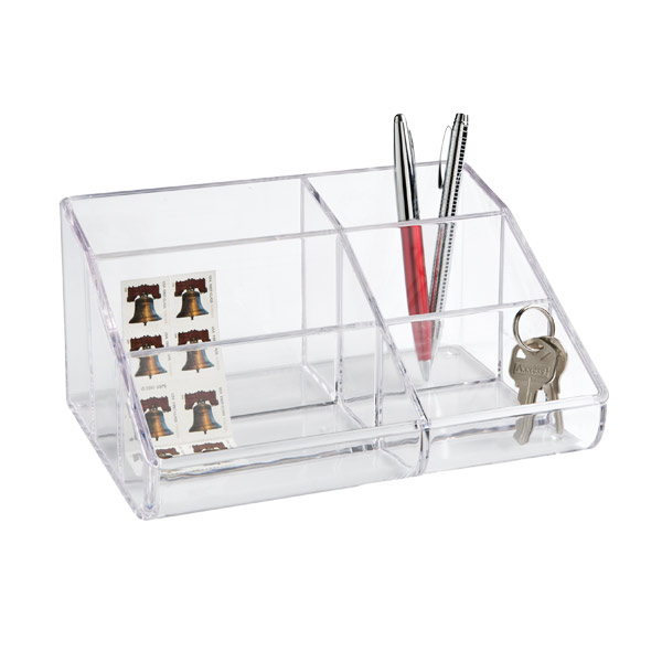 6-Section Acrylic Desktop Organizer