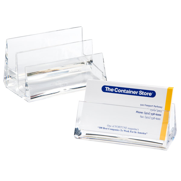 Acrylic business card holders the container store q a 1 question 1 answer acrylic business card holders colourmoves Gallery