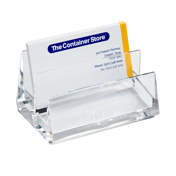 2-Tier Business Card Holder Clear