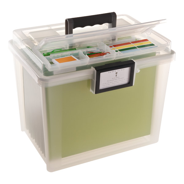 Watertight Portable File Tote Translucent