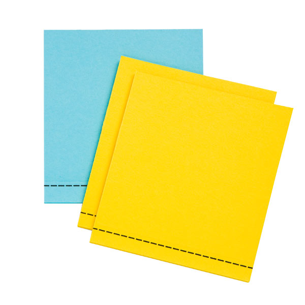 3M Post-it® Label Pads Blue/Yellow Pkg/3