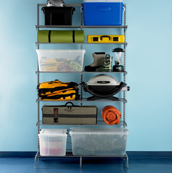 elfa freestanding Storage Platinum