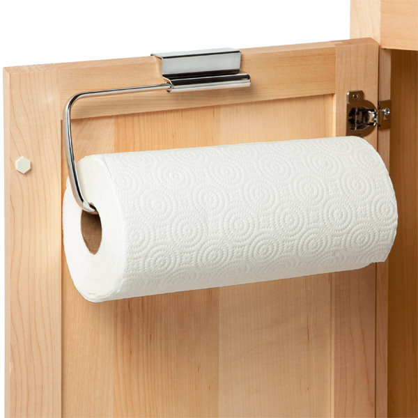 interdesign stainless steel over the cabinet paper towel holder rh containerstore com