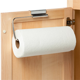 InterDesign Stainless Steel Over the Cabinet Paper Towel Holder | The Container Store
