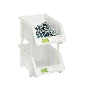 Small Stacking Bin White