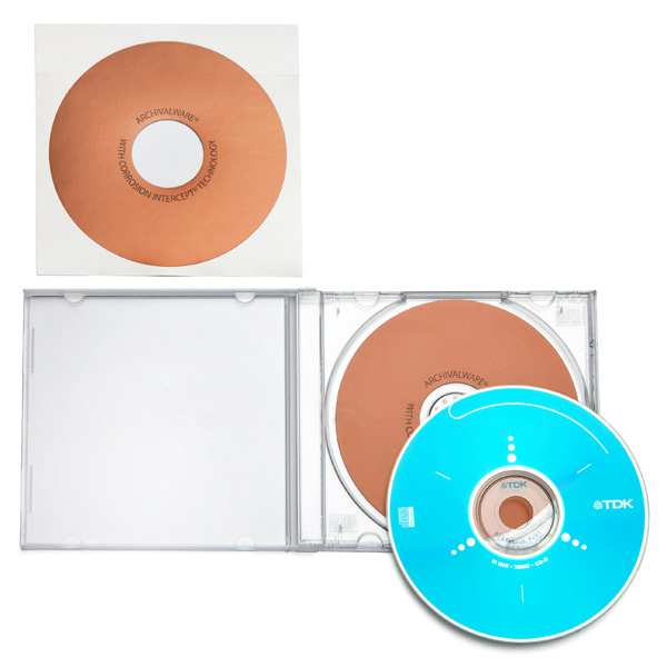 Archival CD/DVD Jewel Case Inserts Pkg/10